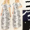 C17118 Leichte Kleid, Maxi, Schöne Schultern