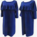 Großhandel Kleider: D4072 Kleid, Made in Poland, 48-54, Kobalt