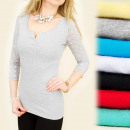 wholesale Fashion & Mode: 4038 LOVELY TOP,  BLOUSE, LACE SLEEVES, BUTTONS