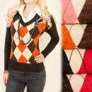 Großhandel Pullover & Sweatshirts: C17208 Elegantes Set, Pullover + Bluse, Diamanten