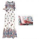 hurtownia Fashion & Moda: Letnia Sukienka Damska, Wzór Róże, M-2XL, 6537