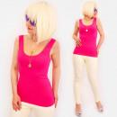 Großhandel Hemden & Blusen: 4583 Summer Lady Top mit breiten Trägern Basic Blu