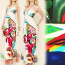 hurtownia Fashion & Moda: C1739 EFEKTOWNA SUKIENKA, piekny dekolt, WAKACJE