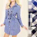 Großhandel Kleider: BI531 Kleidhemd, Tunika, modische Taschen