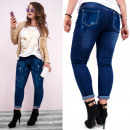 wholesale Jeanswear: Plus Size Women's Jeans, with Ripped, B16854