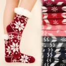 4155 Warme Socken,  Pelz Hausschuhe, skandinavische