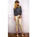 B16686 Waxed Trousers, Treggings, Sandy Beige