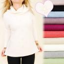 Großhandel Fashion & Accessoires: C17379 Chic Sweater, Große Größen, Perlen, Golf