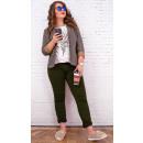 Großhandel Hosen: B16793 Damen Klassische Hose, Khaki, Plus Größe