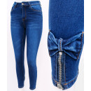 B16768 Women's Jeans, Sliders and Bows, Blue