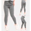 A858 femmes et pantalons, taille nouée, motif à ra