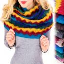 ingrosso Ingrosso Abbigliamento & Accessori: Camino B10A52,  sciarpa lavorata a maglia, zigzag c