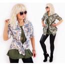 D1409 Women  Oversize Shirt, Tunic, Pastel Moro