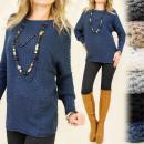 ingrosso Pullover e felpe: G130 maglione  allentato, Tunica, manicotto del blo