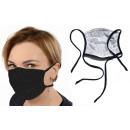 2-lagige Schutzmaske (10 Stück), schwarz