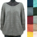 wholesale Pullover & Sweatshirts: Classic Loose Sweater For Women, V-neck, R124