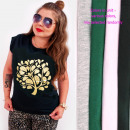 Großhandel Fashion & Accessoires: Baumwoll-Damenhemd bis 4XL, Gold Tree N086