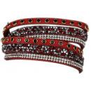 Fashionarmband Splittersteinchen, rot