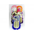 Women's and men's slippers with microfiber