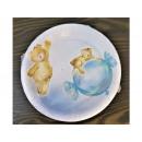 Paper plates 18cm, teddy bear blue