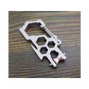 9cm steel multitool snap hook with EDC block