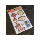 Convex 3D stickers Vintage blister mix