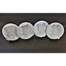 Squeezed animals molds 4 pcs