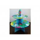 wholesale Crockery: Stand for muffin, cake 2 level flower pattern