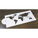 World map template for cake decoration