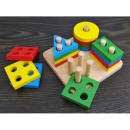 Wooden blocks, geometric shapes