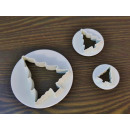 Extruded molds for Christmas tree cookies 3pcs