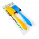 Silicone spatula with brush