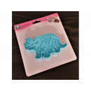 Triceratops dinosaur squeeze mold 13x8cm