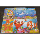 Marine wood puzzle designs 15x15cm