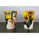 Papír csészék 20cl 8db Madagaszkár pingvinek