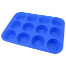 Silicone muffin  form of 12 pieces, deep