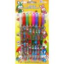 Gel pen 8 pcs with glitter