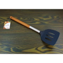 Kitchen spatula openwork wood handle 34cm