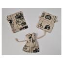 wholesale Bags & Travel accessories: Pouch 8x10cm 3 pcs, mix of designs