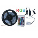 Cold white RGB LED strip with a remote control