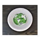 Deep paper plates 19cm, 10 pcs in a bowl