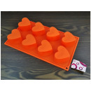 Silicone form muffin 8pcs hearts
