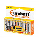 Battery Alkaline Plus LR6- HP8 Eurobatt batteries