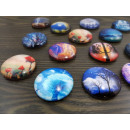 Glass fridge magnets LANDSCAPE