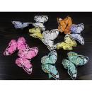 Großhandel Dekoration: Dekorative  Schmetterlinge mit Clip