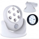 Lamp 7 LED with motion sensor and dusk TV