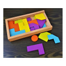 Wooden toy blocks 21 elements