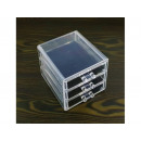 wholesale Make-up Accessoires: Acrylic drawer stand for cosmetics 12x11x13cm