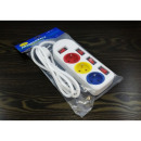 Extension cord, 3 sockets, 1.5 m CE + ROHS