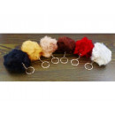 wholesale Keychains:Key ring, FUR BALL